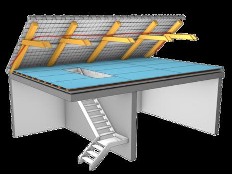 Ouverture accès escalier dans les combles et le grenier