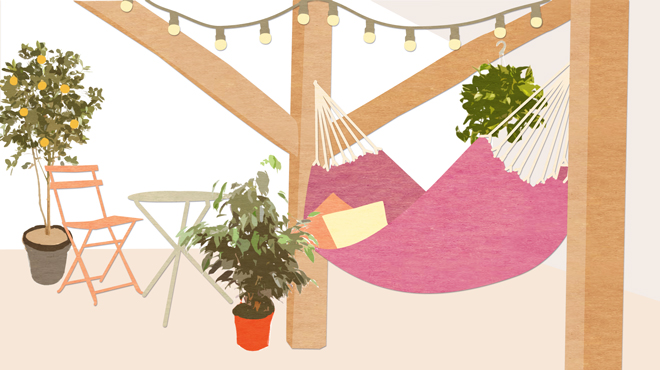 illustration jardin - rénovation combles
