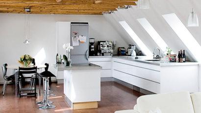 La cuisine - rénovation des combles