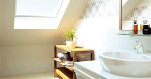 Salle de bains et lumière