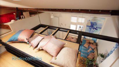 Mezzanine espace suspendu dans les combles aménagés
