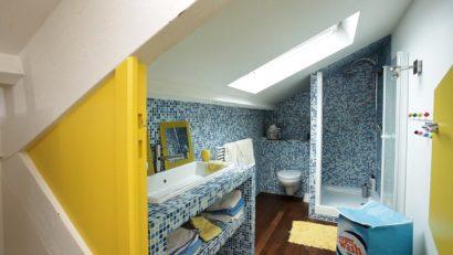 Combles symétriques aménagement de chambres