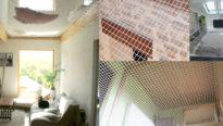 Un filet sous les toits - Filet dans les combles