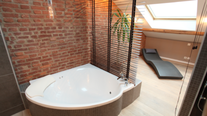 salle de bain zen dans les combles