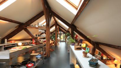 Alcoves et terrasse - aménagement combles