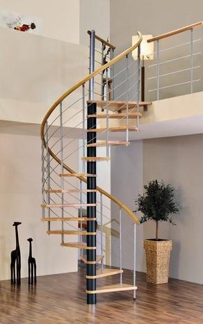 Escalier autoportant hélicoïdal
