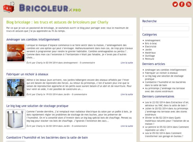 Blog Bricoleur Pro