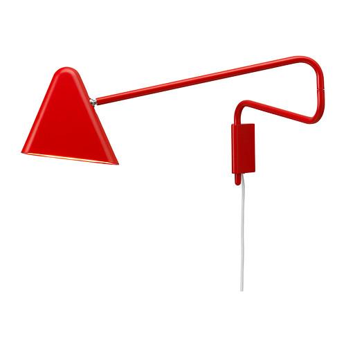 Ikea, lampe murale rouge à led, PS 2012 - 49,90 €