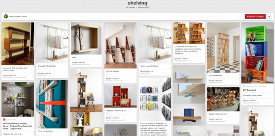 Pinterest Shelving de Marie Thybert-Zaionz