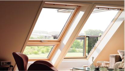 Fenêtre de toit balcons