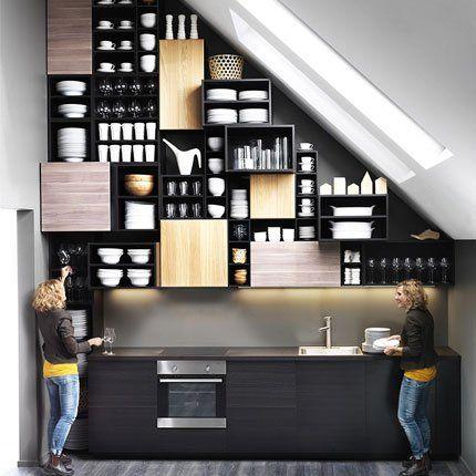 Mur pignon cuisine