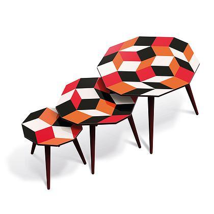 Table basse collection Penrose design par Ich&Kar