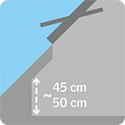 hauteur fassane combles acova