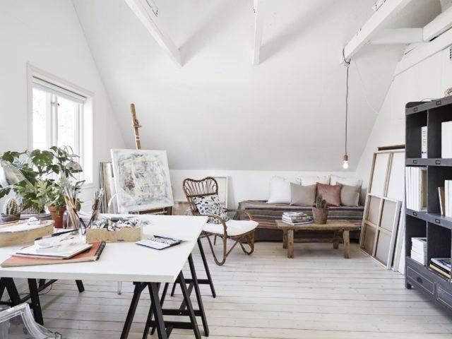 Un atelier d'artistes sous les combles - Atelier suédois ©Stadshem