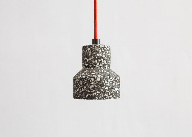 Suspension en Terrazzo et Led de Bentu Design