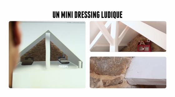 Exemple de dressing composé de rangements Ikea pour une chambre d'enfant