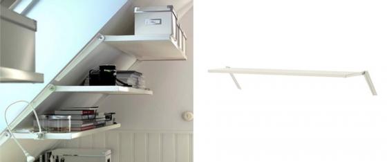 tagres pour combles ekby riset 3090 chez ikea ikea - Meuble Sous Comble Ikea