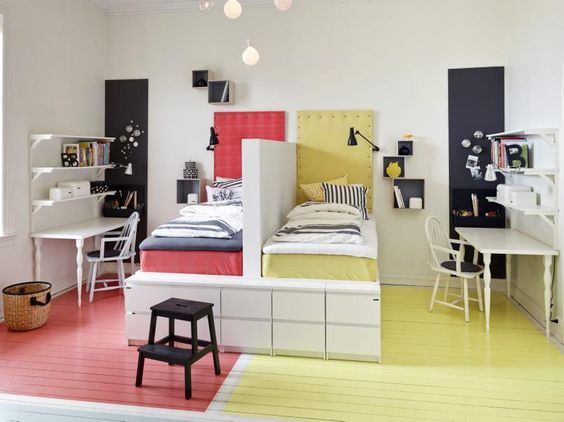 Chambre d enfants créer deux espaces sous combles rêve de combles