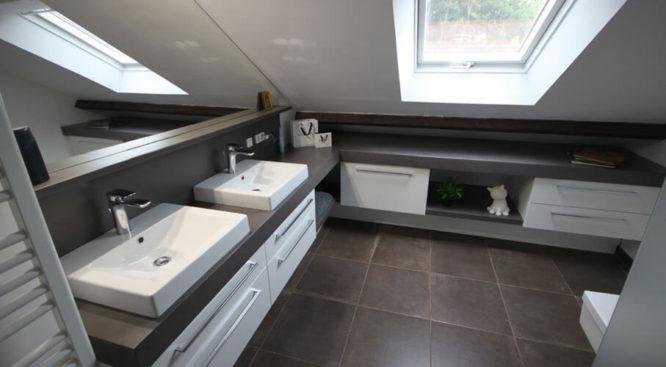 Quels rangements pour ma salle de bains sous combles r ve de combles - Salle de bain sous comble ...