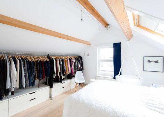 4 façons de ranger ses vêtements sous les combles - Rêve de Combles