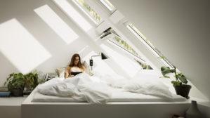 combles fenêtres de toit lumière naturelle