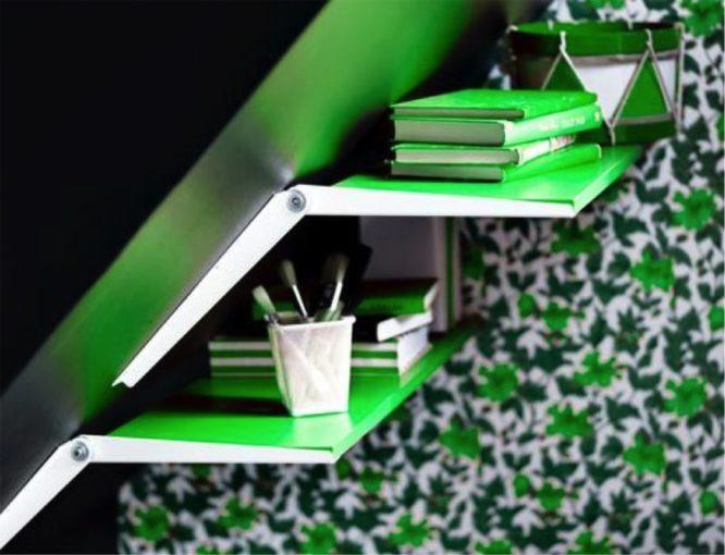 astuce-rangement-étagère-toits-combles