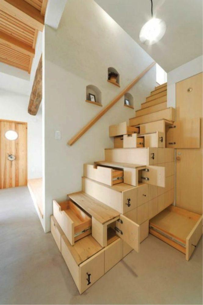 rangement-escalier-placard-tiroir-astuce