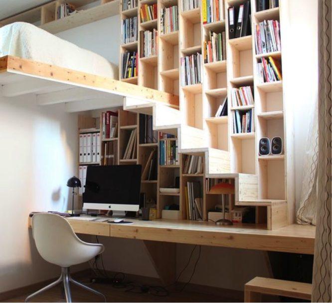 rangement-mur-placard-bibliothèque-comble-rangement-optimiser