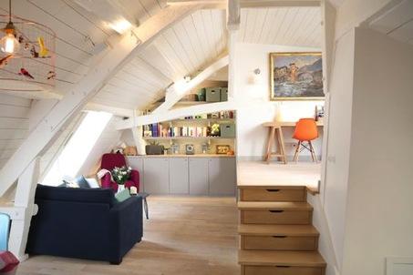 comment am nager un salon dans un petit espace sous combles r ve de combles. Black Bedroom Furniture Sets. Home Design Ideas