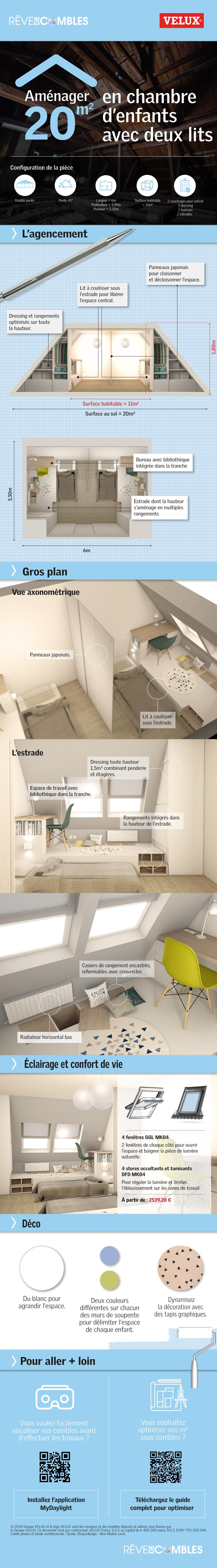 infographie-amenager-20m-chambre-enfants-deux-lits-combles