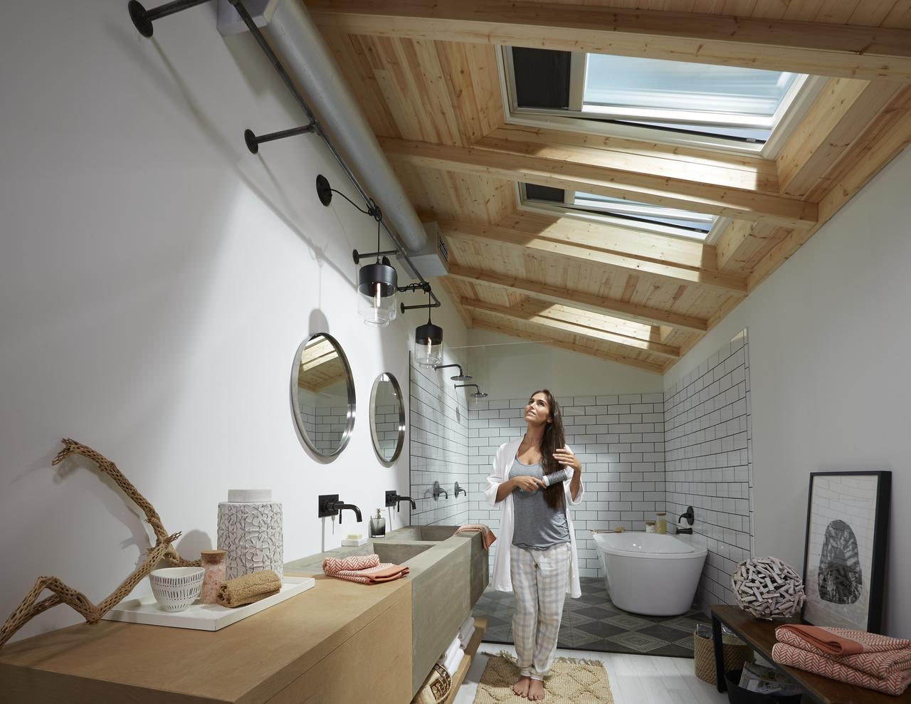 Salle de bains dans les combles : comment bien gérer la circulation ...