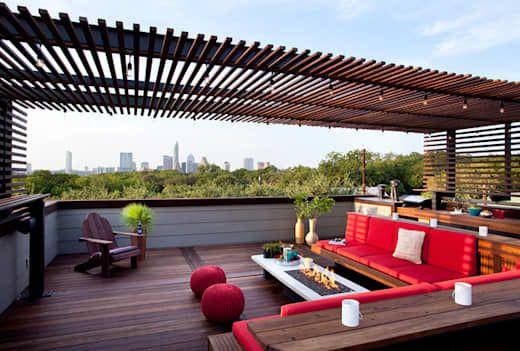 Terrasse toiture plate